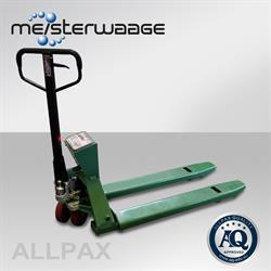 ALLPAX Hubwagen mit 4-Punkt Wägesystem 2t / 0,5 kg