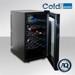 Weinkühlschrank für 18 Flaschen, schwarzer schmaler Rahmen