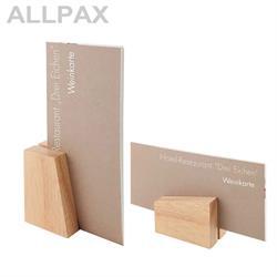 2 Kartenhalter Holz ca. 8,5 x 6 cm, Höhe 4,5/8,5 cm