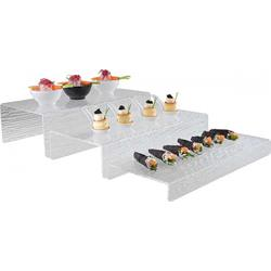 Stufen-Display mit Schieferstruktur, 40 x 18/20/22 cm