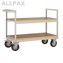 Manuflex Etagenwagen Varimobil 1030 mm hoch - Fachboden Holzverbund