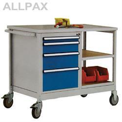 Manuflex Mobiler Werkstattwagen mit Schubfächern und Einlegeböden