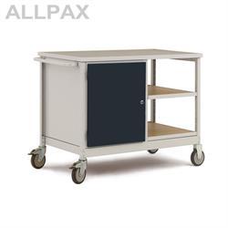 Manuflex Mobiler Werkstattwagen mit Stahlgehäuse und Einlegeböden