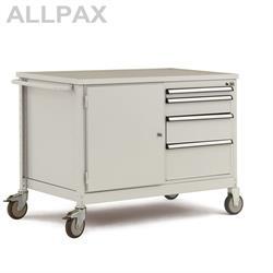 Manuflex Mobiler Werkstattwagen mit Schubfächern und Stahlgehäuse