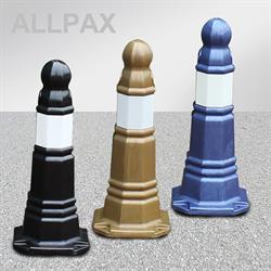 Absperrpoller blau, gold oder schwarz
