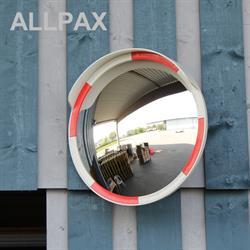Acrylglas Verkehrsspiegel, rot-weiss, Durchmesser 80 cm
