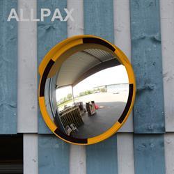 Acrylglas Beobachtungsspiegel, gelb-schwarz, Durchmesser 80 cm