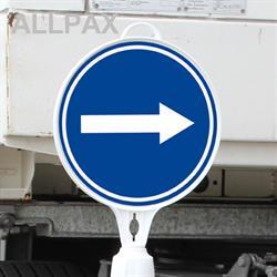 Schild  rund, Richtung links / rechts