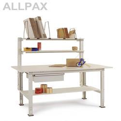 Manuflex Packtisch Packpool mit Schubfach und Zwischenboden