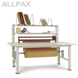 Manuflex Packtisch Packpool mit Rollen-Achssatz Untertisch und 1-fach Schneidgerät