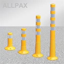Leitpoller Flexipfosten gelb mit retroreflektierender Folie 80 mm Durchmesser