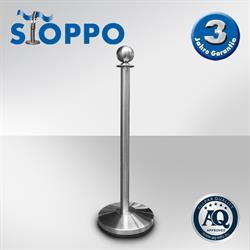STOPPO Afzetpaal met ronde bol, RVS