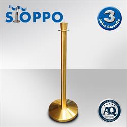 STOPPO Absperrständer Zylinder goldenes Design
