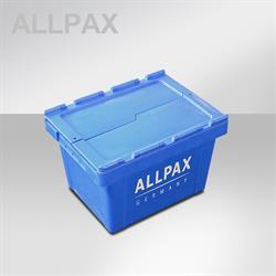 Stapelbehälter mit Deckel LxBxH 40 x 30 x 25,5 cm, schachtelbar