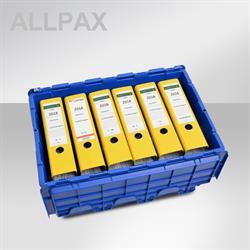 Opvouwbaare kunststof transportbox met deksel LxBxH 40 x 60 x 31,5 cm