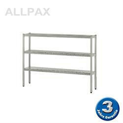 Aluminium-Regal 050 mit 3 Böden - Tiefe 380 mm