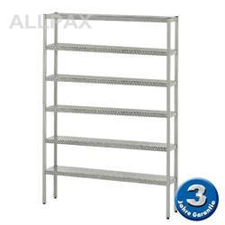 Aluminium-Regal 050 mit 6 Böden - Tiefe 380 mm
