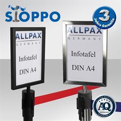 STOPPO Info-Tafel, hoch, für Zugbandständer