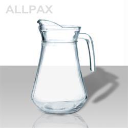 Glaskrug mit Eislippe