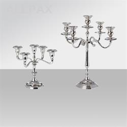 Kerzenhalter - Aluminium Vernickelt - 5-Armig
