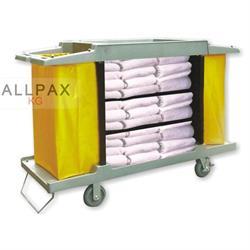 Wäschewagen, Hotelwagen, Kunststoff grau
