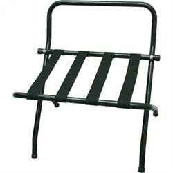 Kofferständer mit Wandschutz, Stahlrohr schwarz