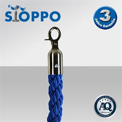 Afzetkoord van gedraaid touw, blauw
