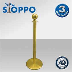 Allpax Afzetpaal met ronde bol, goud