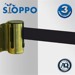 STOPPO afzetband voor muursysteem - trekband zwart