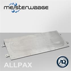 Auffahrrampe für Allpax Bodenwaagen, Edelstahl, 150 cm breit