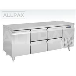 Kühltisch - 1 Tür und 4 Schubladen