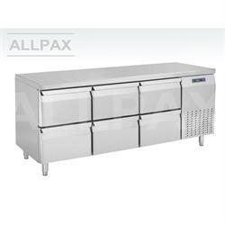 Kühltisch - 6 Schubladen