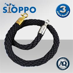 Afzetkoord van gedraaid touw, zwaart - op maat
