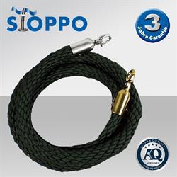 Afzetkoord van gedraaid touw, donkergroen - op maat