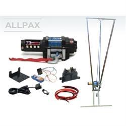Aufbrechhilfe mit elektrischer Seilwinde verzinkt