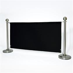 ALLPAX Café-Absperrung Set schwarz, 1,8 m