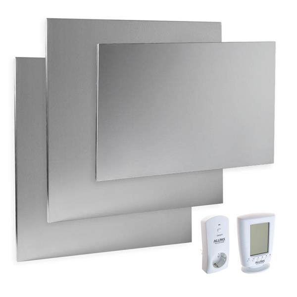 Komplettset Infrarotheizung 1000 Watt, inkl. Thermostat