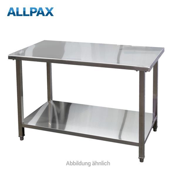 Arbeitstisch aus Edelstahl 1500 x 700 x 850 mm, zerlegt