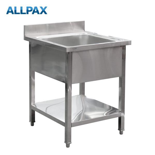Gastro Spültisch 650 x 700 x 850 mm, 1 Becken
