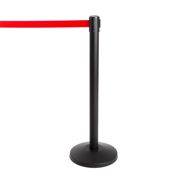 Stoppo XL Abgrenzungsständer schwarz, 3,4m, Zugband rot