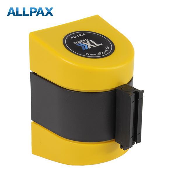 Stoppo XL Abgrenzungsband zur Wandmontage 4,6m - gelb-schwarz gestreift
