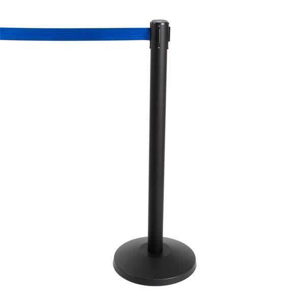 Stoppo XL Abgrenzungsständer schwarz, 3,4m, Zugband blau