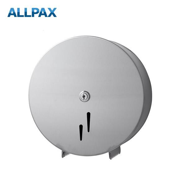 Jumbo-Toilettenpapierspender Edelstahl matt 250 x 255 x 115 mm (BxHxT)