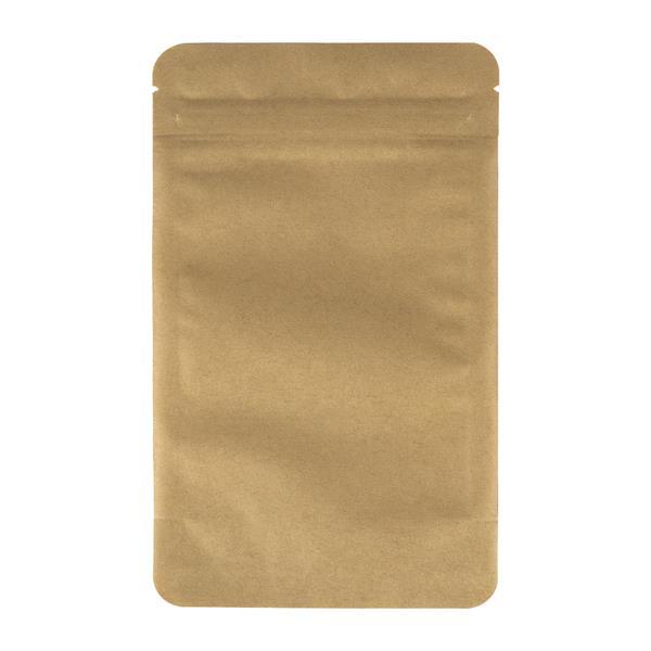 Blockbodenbeutel Papier mit Seitenfalte und Zipper