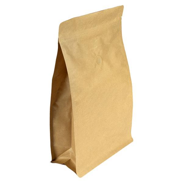 Blockbodenbeutel Papier mit Seitenfalte und Luftventil