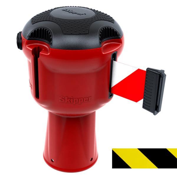 Skipper Zugbandkassette  für Leitkegel, Gehäuse ABS rot, Zugband 9 m