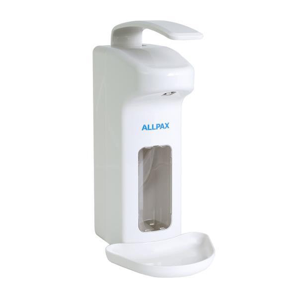 Desinfektionsspender 500 ml mit Armhebel weiß