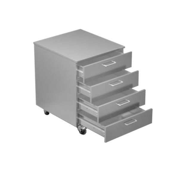 Rollcontainer bedienseitig 3 Schubladen Höhe 640 mm
