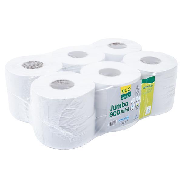 Jumbo Toilettenpapier mini 2-lagig, Ecogreen