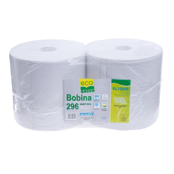 Ecogreen Putzrollen 2-lagig, weiß